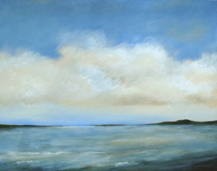 "Down the Bay 28"" x 22"" (sold) -"